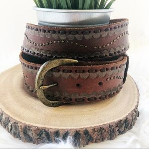 Abercrombie & Fitch brown leather belt size L